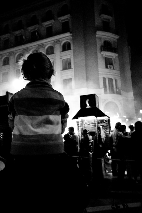 Girl watching the Fire