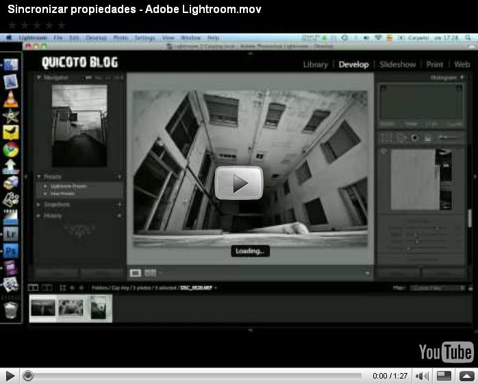 Sincronizar propiedades – Adobe Lightroom