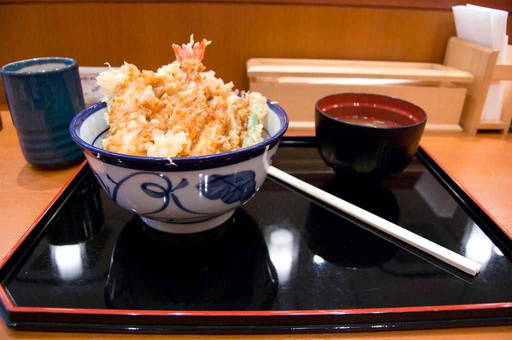 Comiendo en Japón