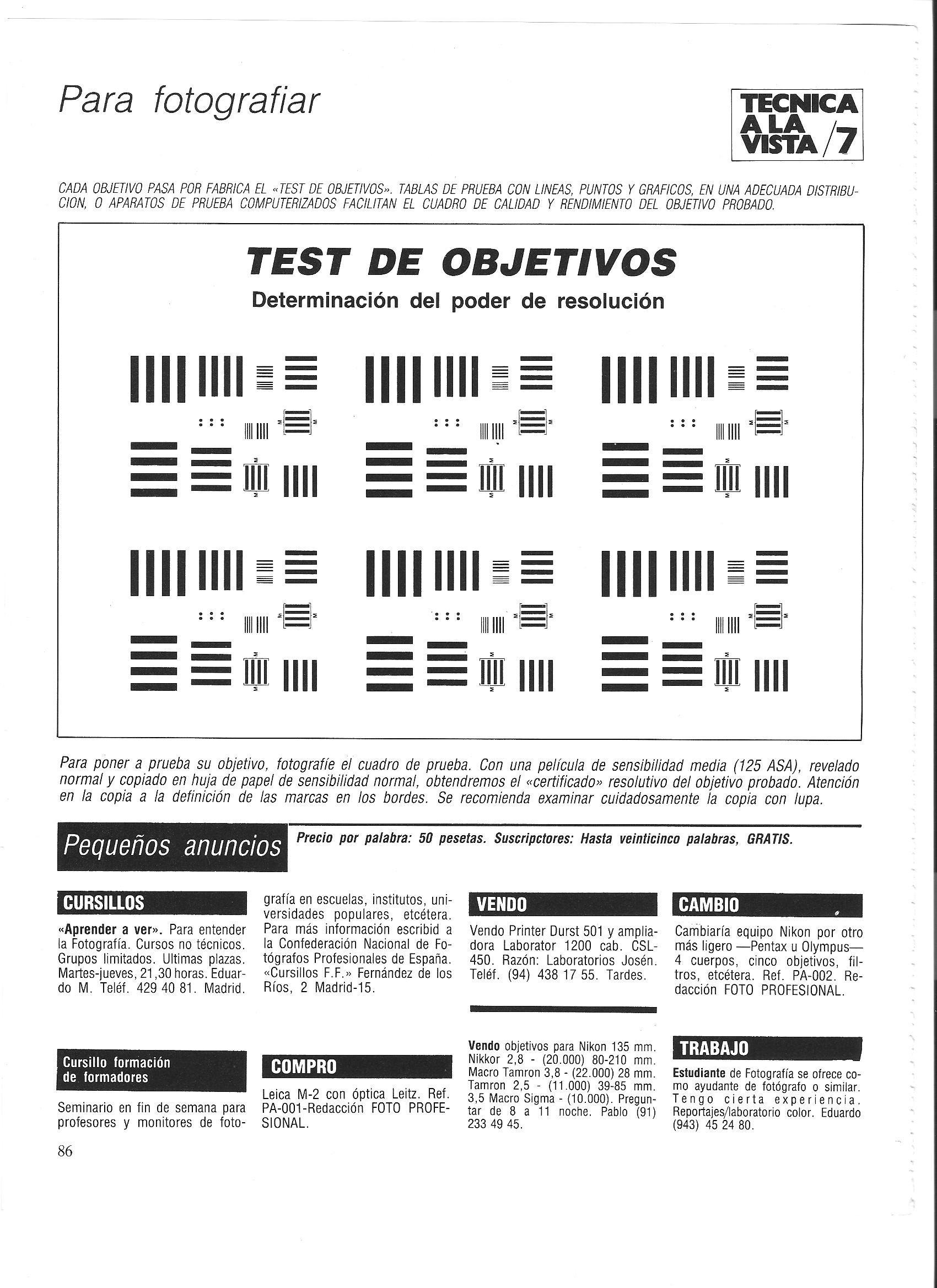 Test de Objetivos