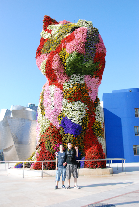 Mi hermano y yo en Bilbao