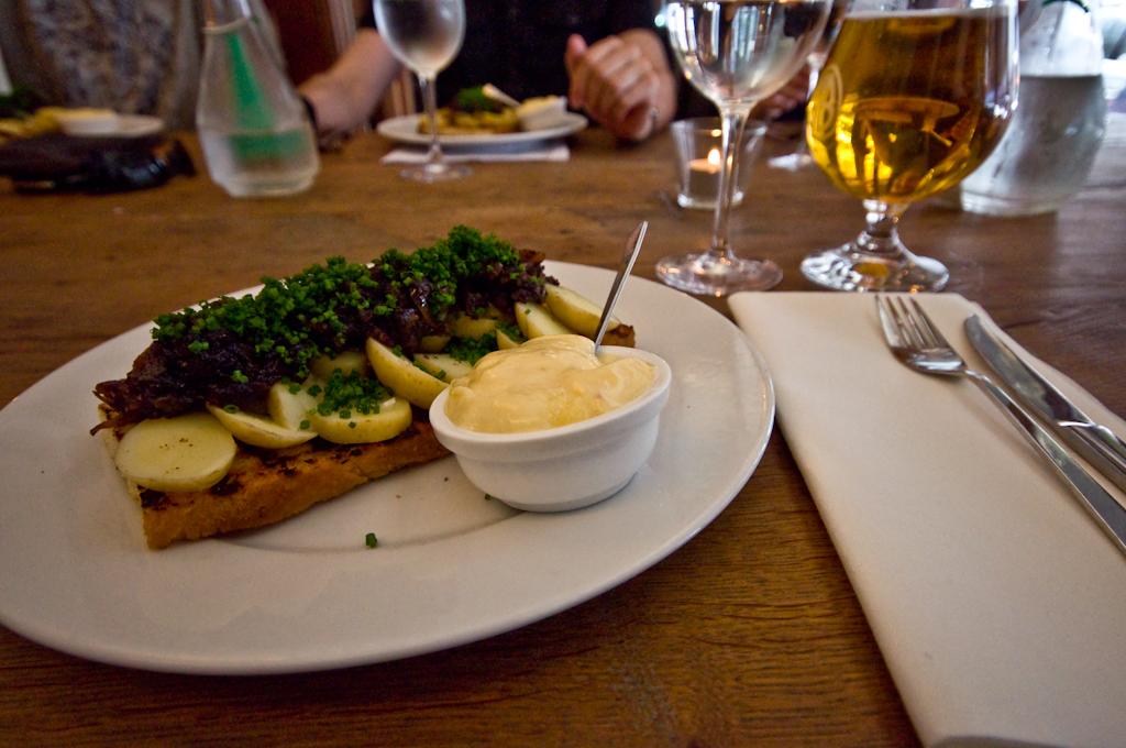 Comiendo en Copenhague