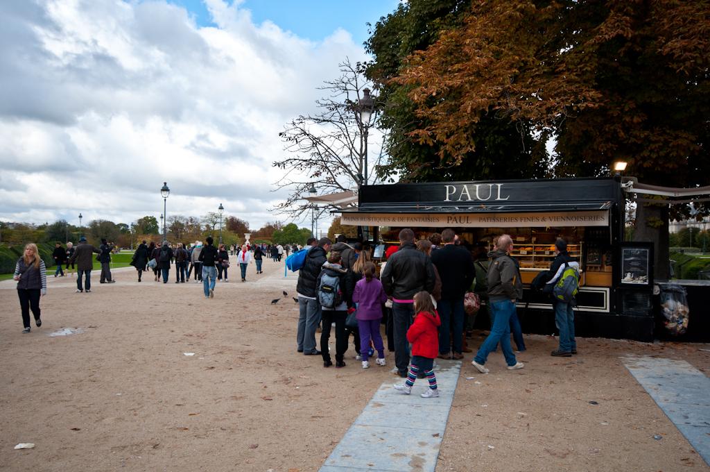 Otoño en los Campos Elíseos de París