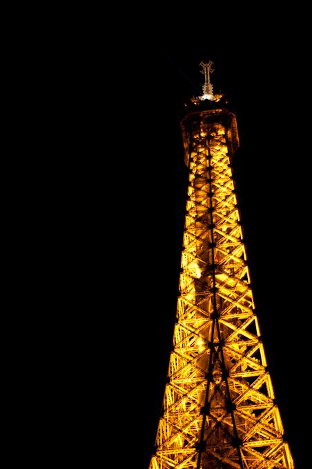 La Torre Eiffel de Noche – París