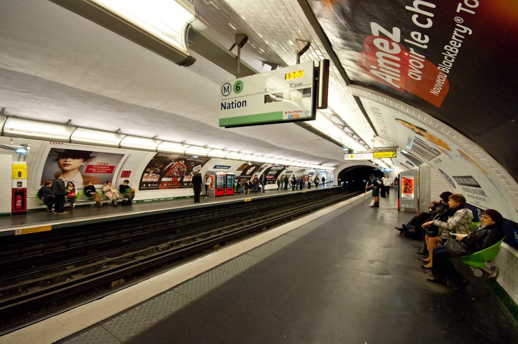 Meando en el Metro de París