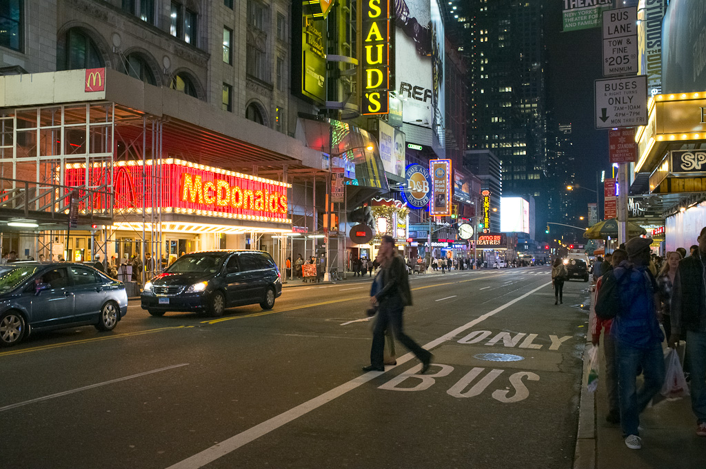 Times Square de noche – Nueva York