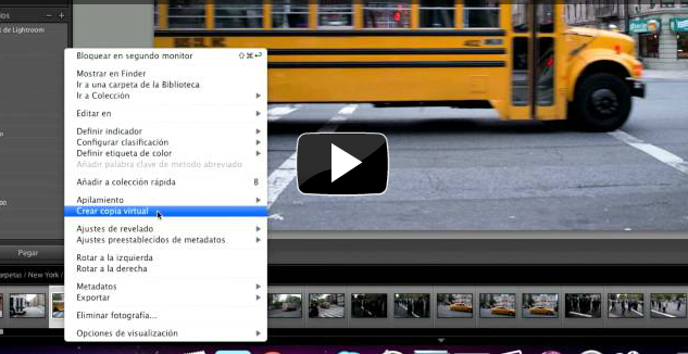 Crear copia virtual – Adobe Lightroom