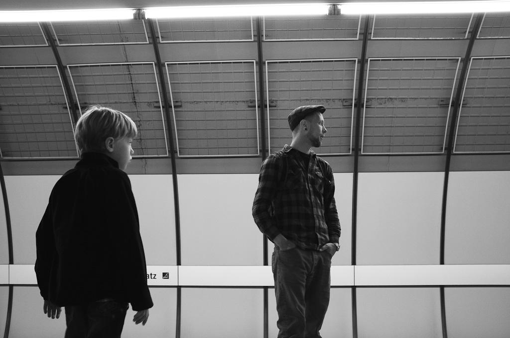 Esperando en el metro – Munich