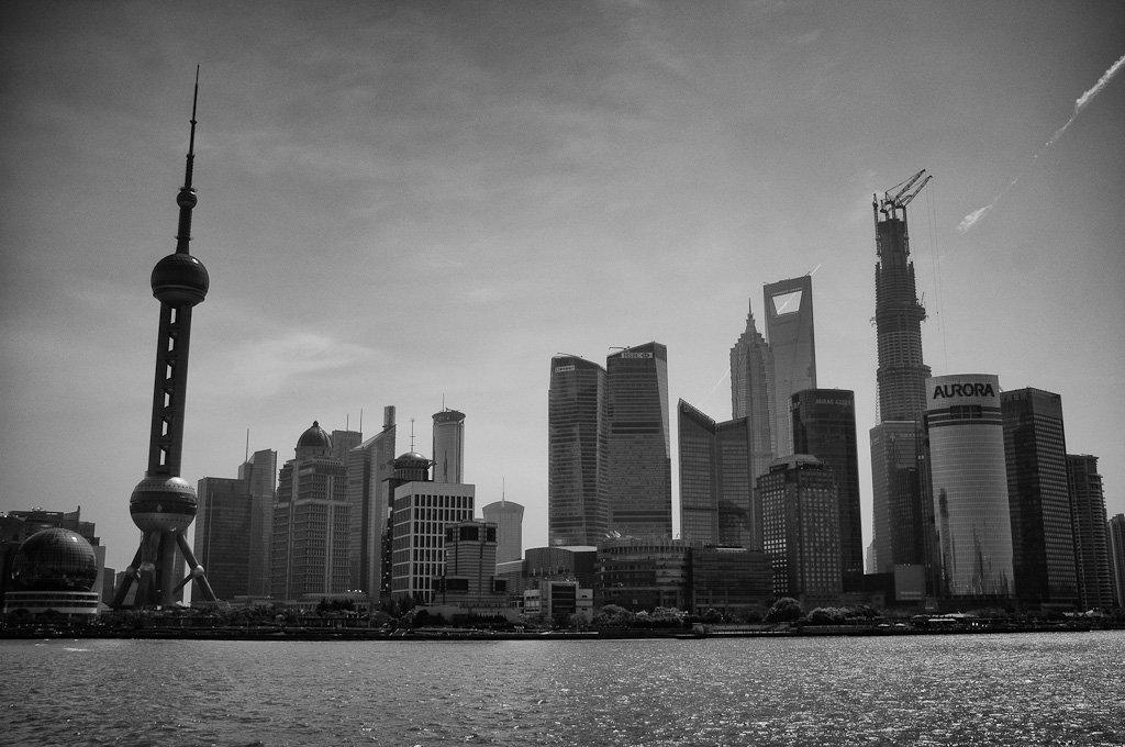 Los contrastes de Shanghái, China