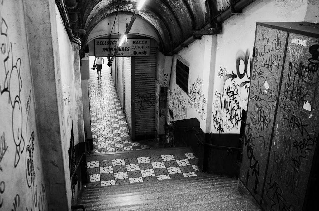 Galería en el barrio del Born de Barcelona