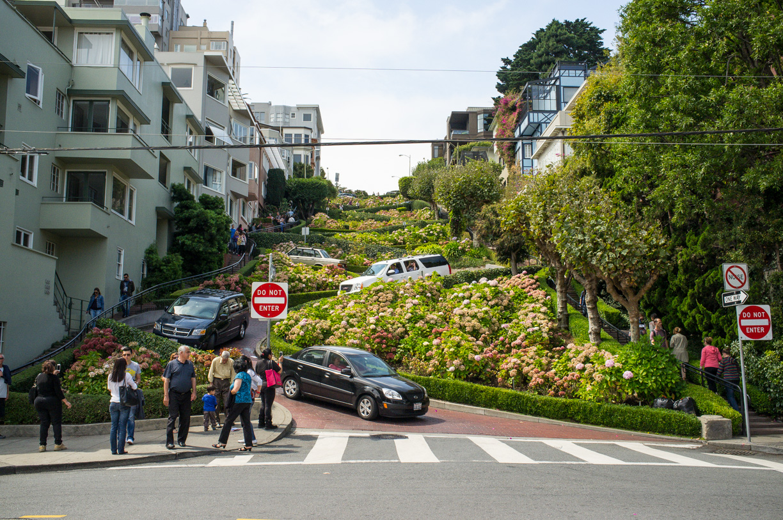 La famosa Lombard Street – San Francisco