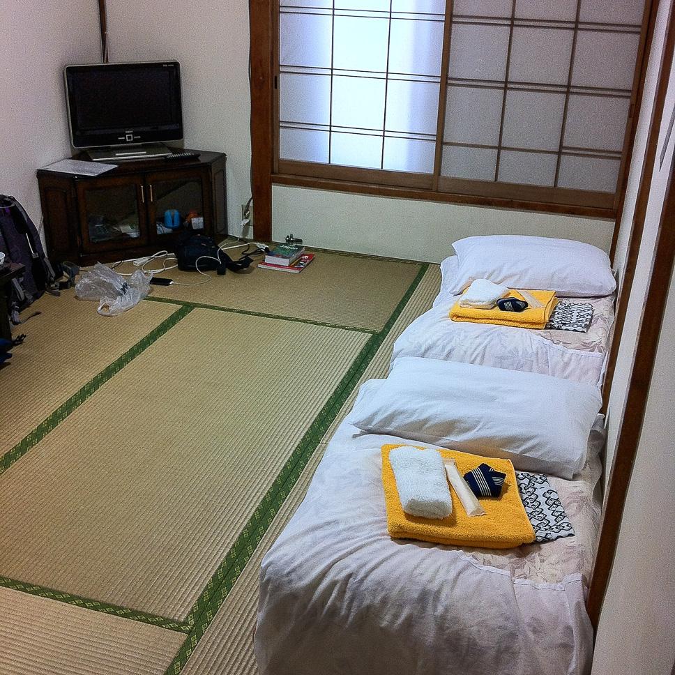 Alojamientos durante el segundo Viaje a Japón