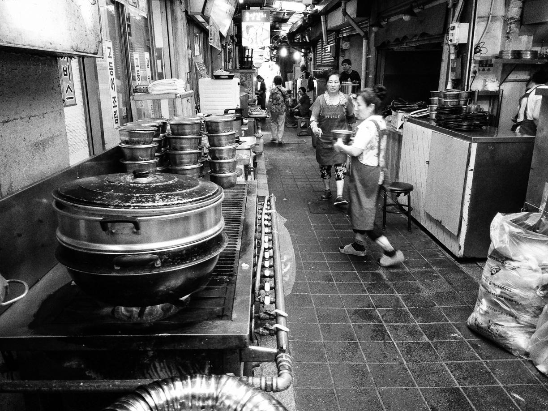 Mercado de Namdaemun en Seúl, Corea el Sur