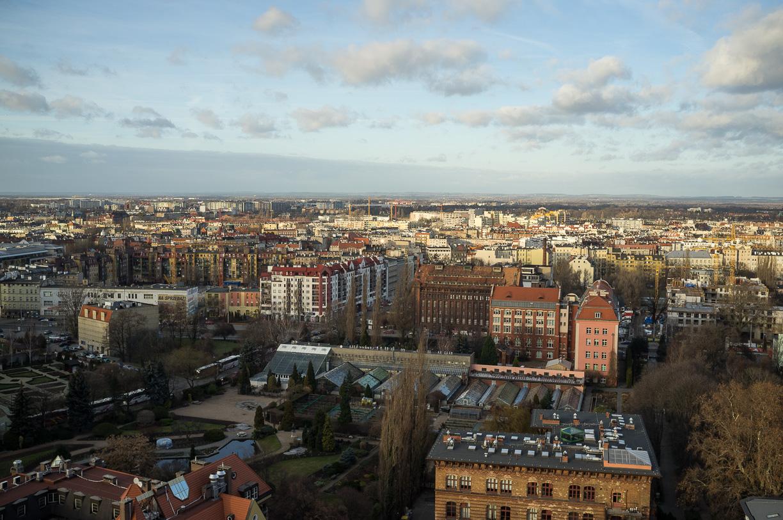 Vistas desde Catedral Breslavia, Polonia