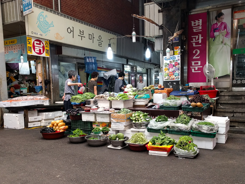 Mercado de Kwang Jang en Seúl, Corea del Sur