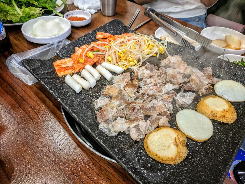 La comida ilimitada en Corea del Sur