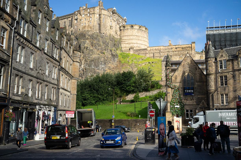 Las buenas vistas del Castillo de Edimburgo