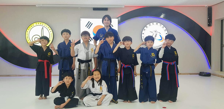 Clases de espada durante mi viaje a Corea del Sur